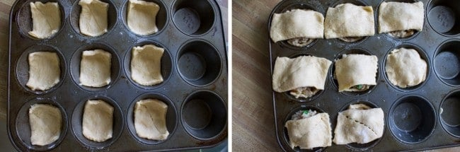 Mini Chicken Pot Pies (Quick and Easy!) from The Food Charlatan