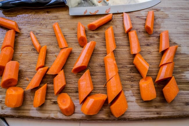 How to chop carrots for glazed carrot recipe