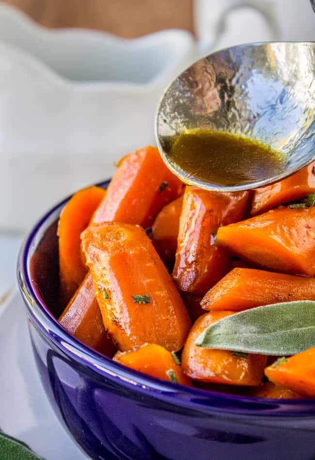 Slow Cooker Brown Butter Carrots from The Food Charlatan