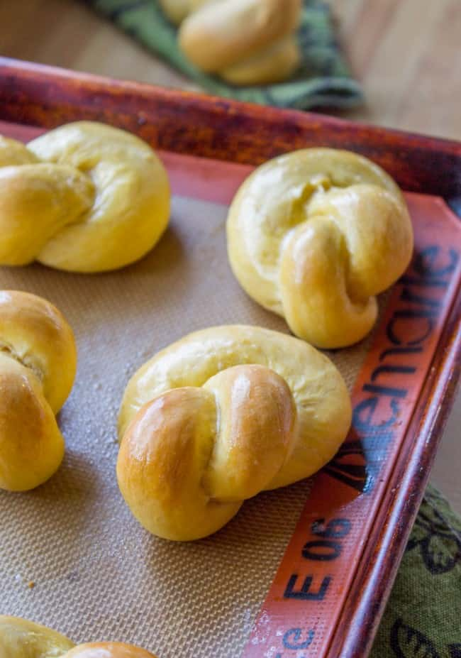 Buttery Sweet Potato Rolls from The Food Charlatan