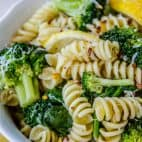 20 Minute Lemon Broccoli Pasta Skillet from The Food Charlatan