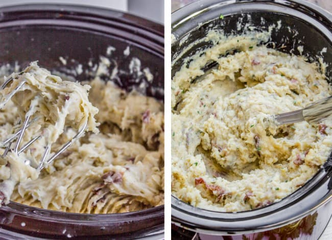 Slow Cooker Buttermilk Mashed Potatoes from The Food Charlatan