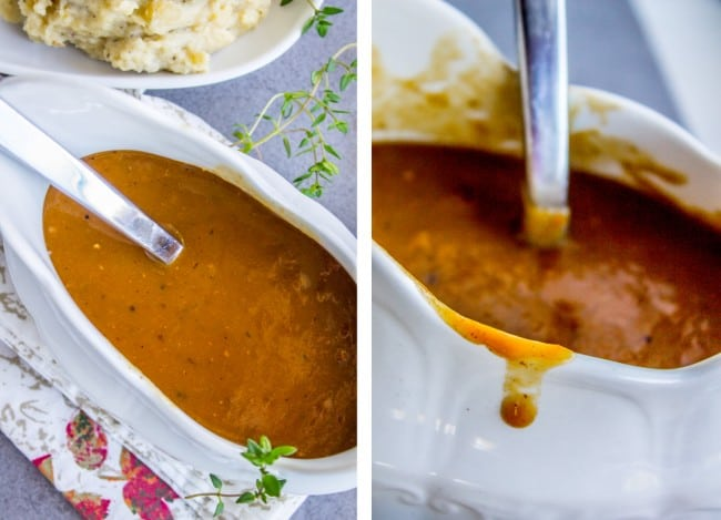 Make Ahead Turkey Gravy for Thanksgiving from The Food Charlatan
