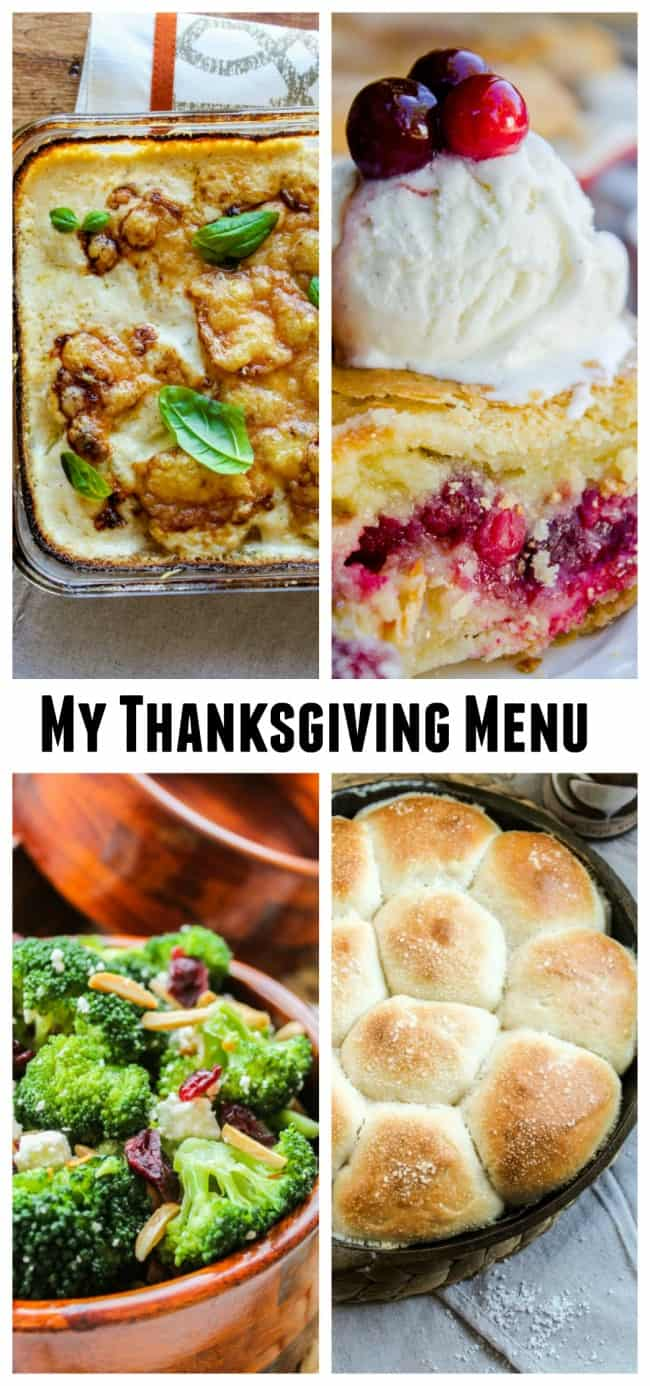 Thanksgiving Menu ideas from The Food Charlatan