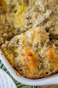 Overnight Biscuits and Gravy Casserole from The Food Charlatan