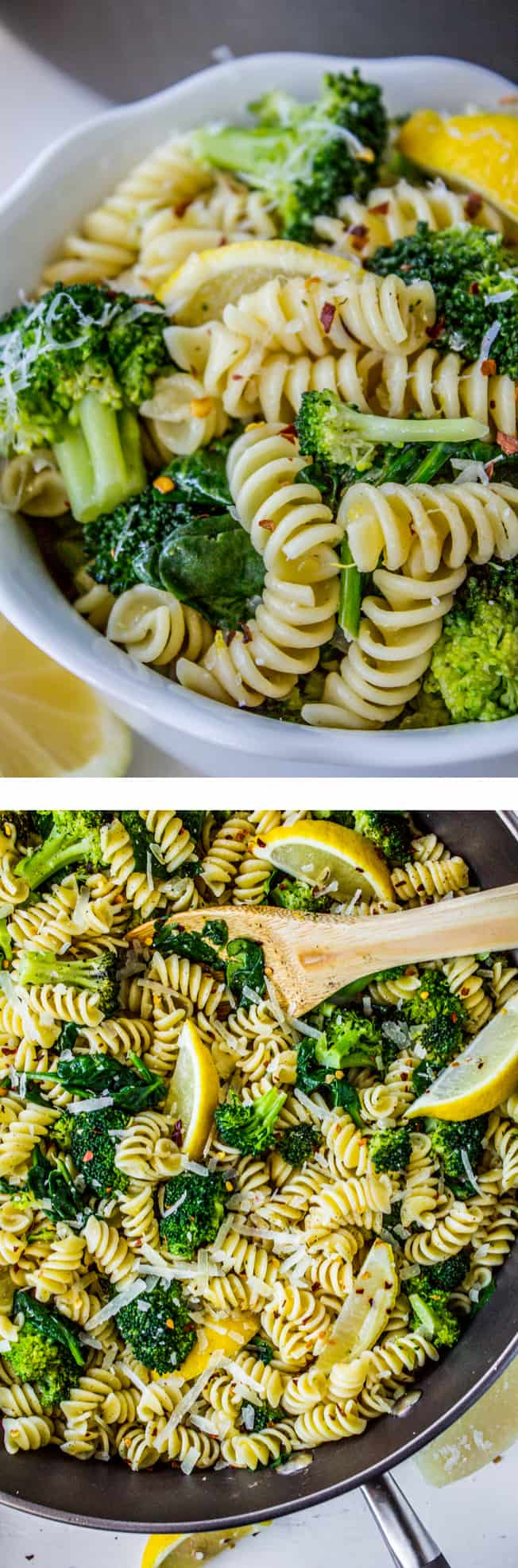 20 minute lemon broccoli pasta skillet the food charlatan