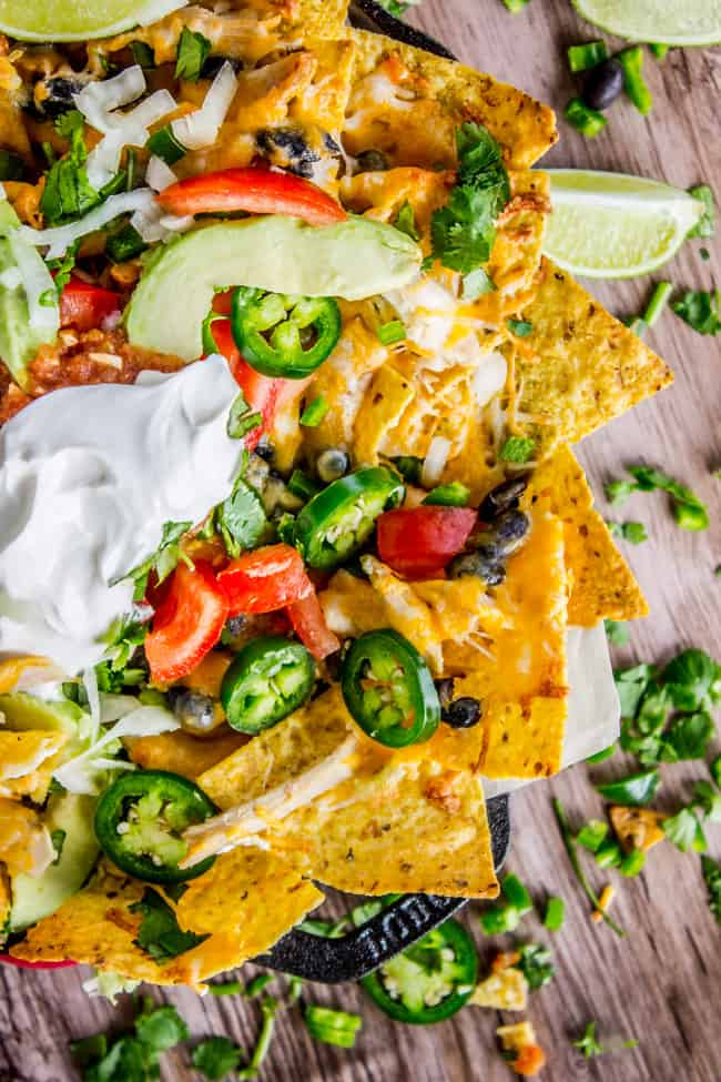 Easy Rotisserie Chicken Nachos from The Food Charlatan