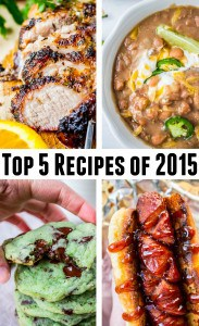 Top 5 Recipes of 2015 from The Food Charlatan
