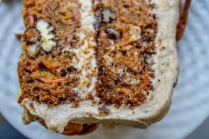Carrot Cake with Cream Cheese Maple Pecan Frosting