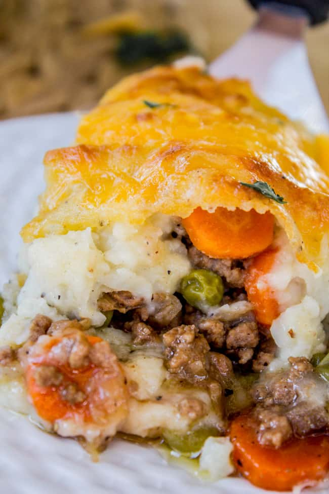 Classic Shepherd's Pie with Crispy Cheddar Topping from The Food Charlatan