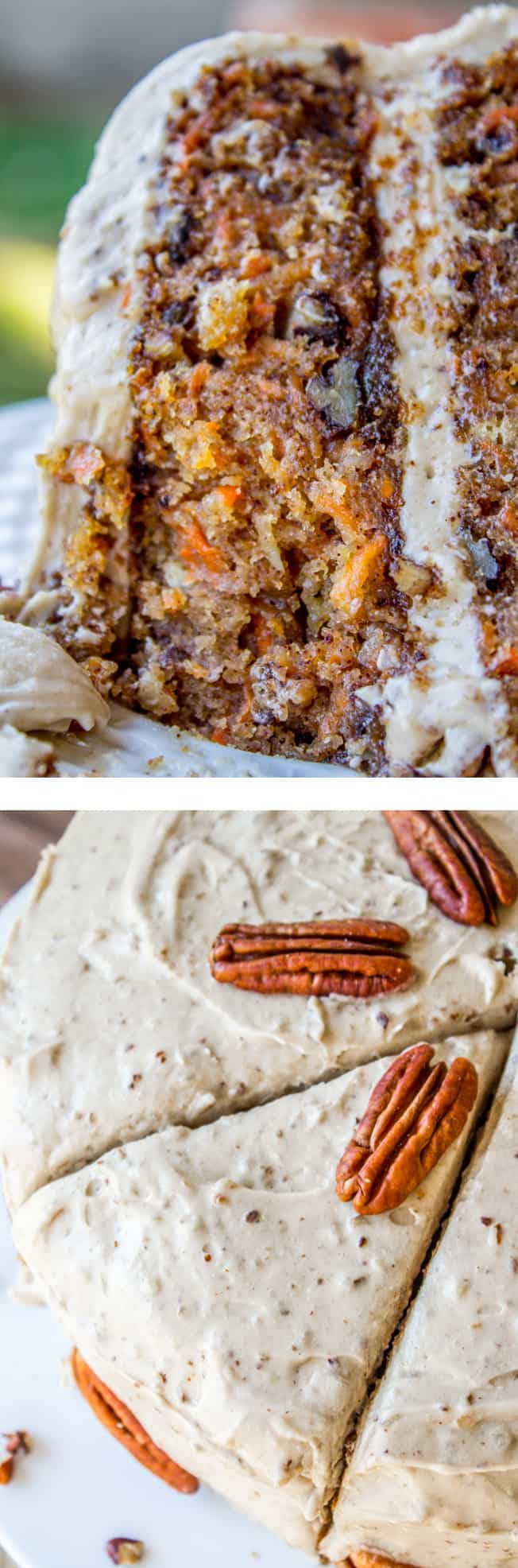 This Irresistible Carrot Cake Is Covered With A Thick Layer Of Cream Cheese Maple Pecan Frosting Crushed Pineapple Makes It Super Moist