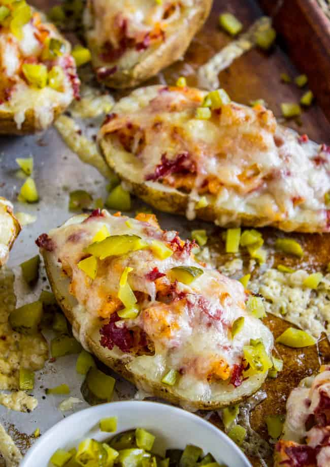 Reuben-Stuffed Twice Baked Potatoes from The Food Charlatan