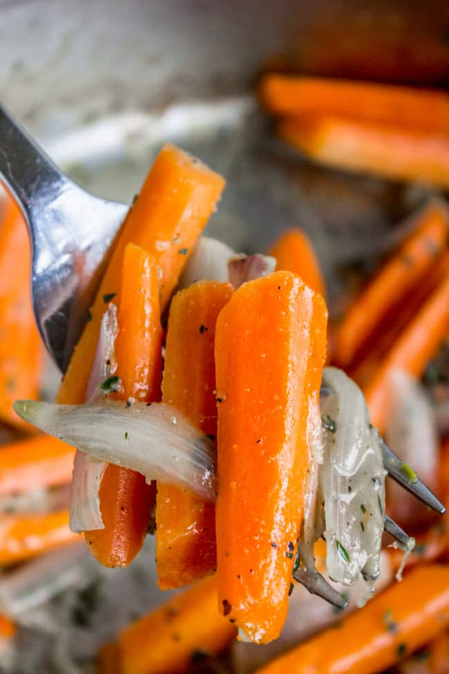 Sautéed Carrots and Shallots with Thyme from The Food Charlatan