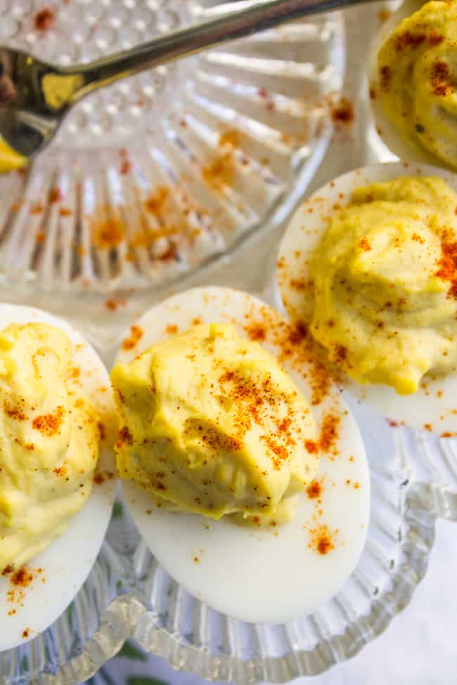 Classic Deviled Eggs from The Food Charlatan