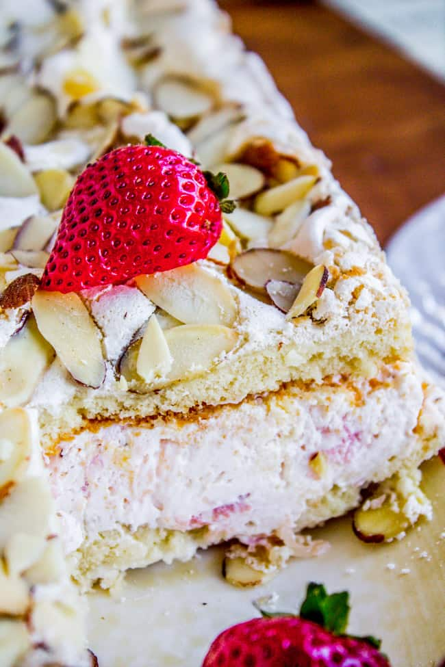 Strawberry Pineapple Meringue Cake from The Food Charlatan