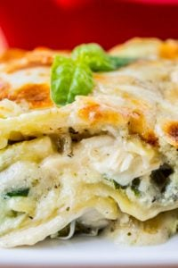 White Lasagna with Chicken and Pesto from The Food Charlatan