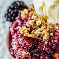 Easy Blackberry Cobbler with Oat Crunch Topping