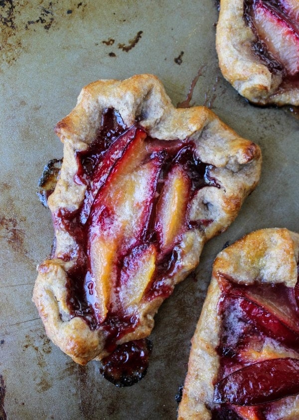 Plum Tartlets with Cinnamon Rye Crust from The Food Charlatan