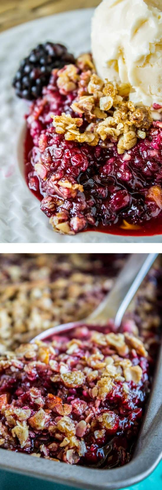 Easy Blackberry Cobbler with Oat Crunch Topping from the Food Charlatan