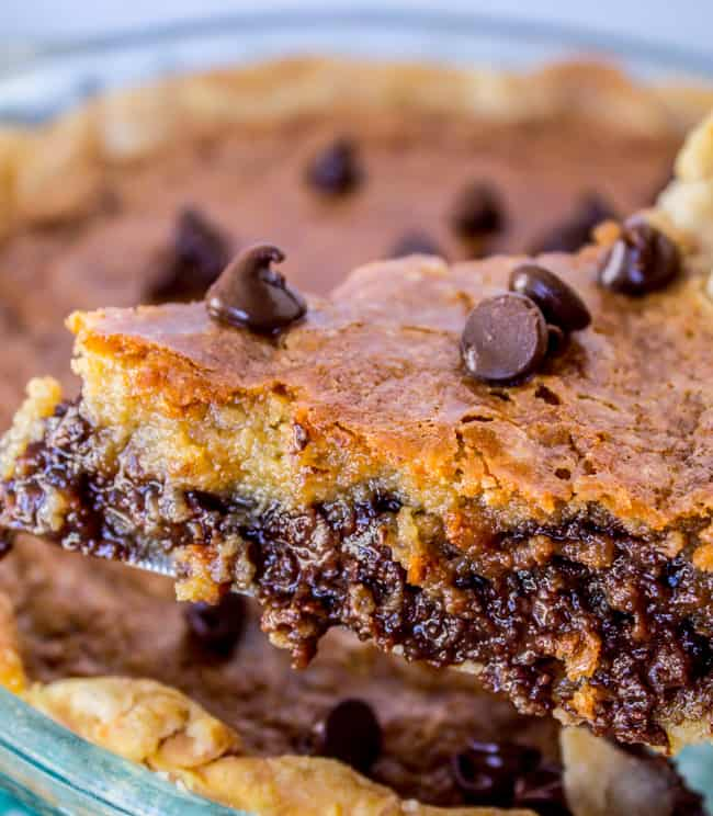 THE Chocolate Chip Pie from The Food Charlatan
