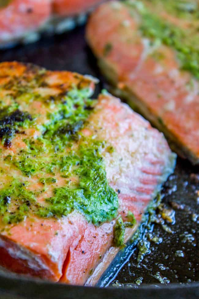 7a3a8a3f2287 20 Minute Pan-Seared Salmon with Arugula Pesto - The Food Charlatan
