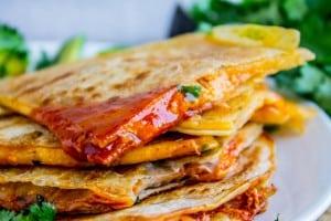 10 Minute Enchilada Quesadillas