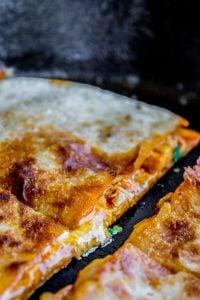 10 Minute Enchilada Quesadillas from The Food Charlatan