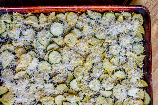 Parmesan Crusted Zucchini and Yellow Squash