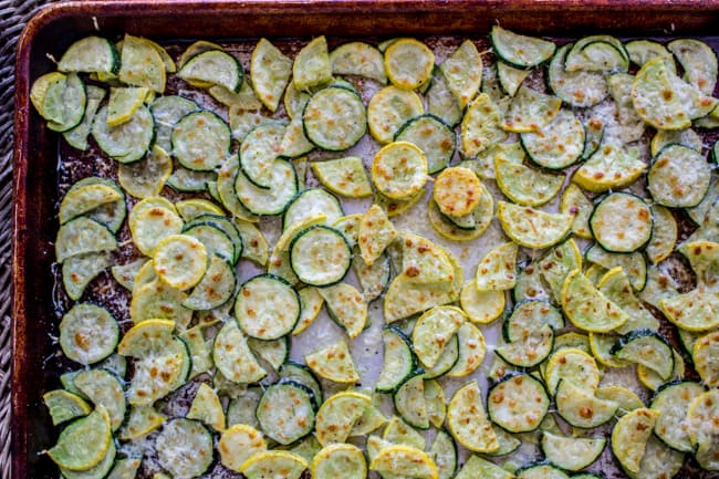 Parmesan Crusted Zucchini and Yellow Squash from The Food Charlatan