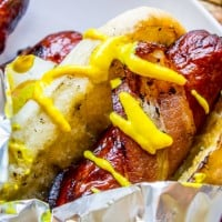 Bacon Wrapped Hot Dogs (Grilled)