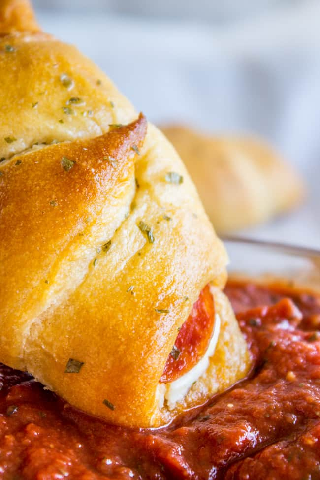 Pepperoni Cream Cheese Crescent Rolls from The Food Charlatan