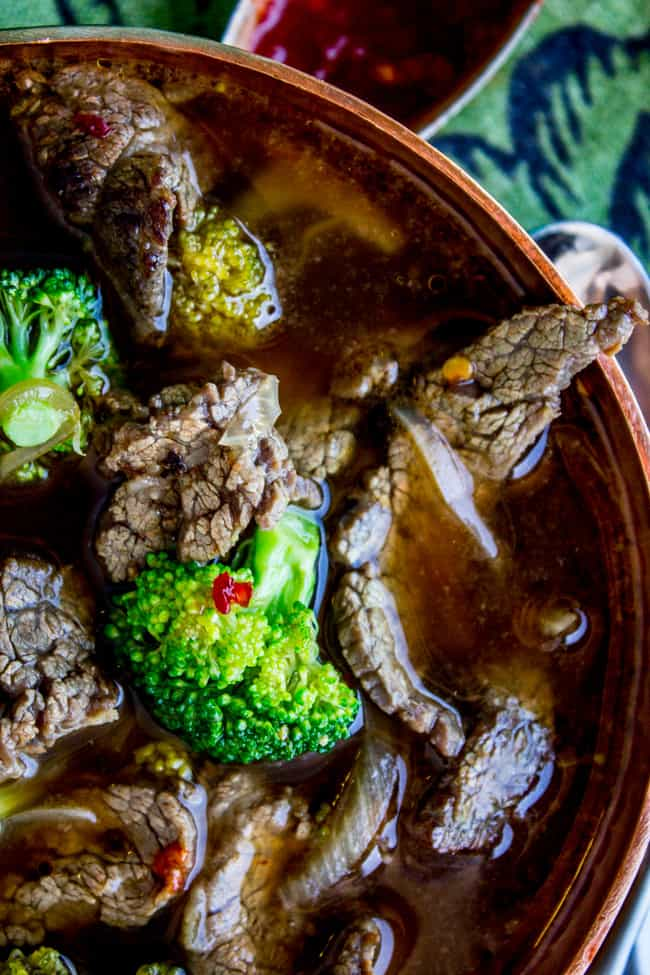 Chinese Beef and Broccoli Soup from The Food Charlatan