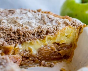 Apple Custard Pie with Cinnamon Streusel