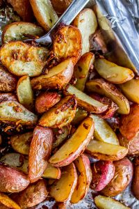 3 Ingredient Roasted Potatoes with Crunchy Onions from The Food Charlatan