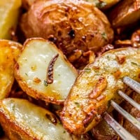 3 Ingredient Roasted Potatoes with Crunchy Onions
