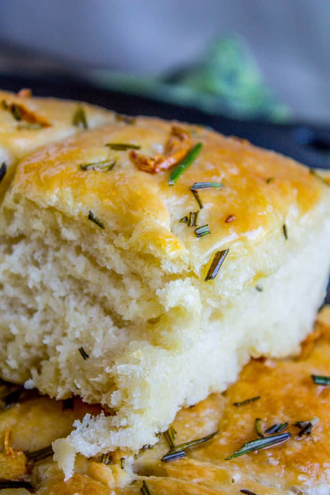 Garlic and Rosemary Skillet Bread - The Food Charlatan
