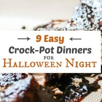 9 Easy Crock Pot Dinners for Halloween Night