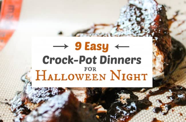 9 Easy Crock Pot Dinners for Halloween Night from The Food Charlatan