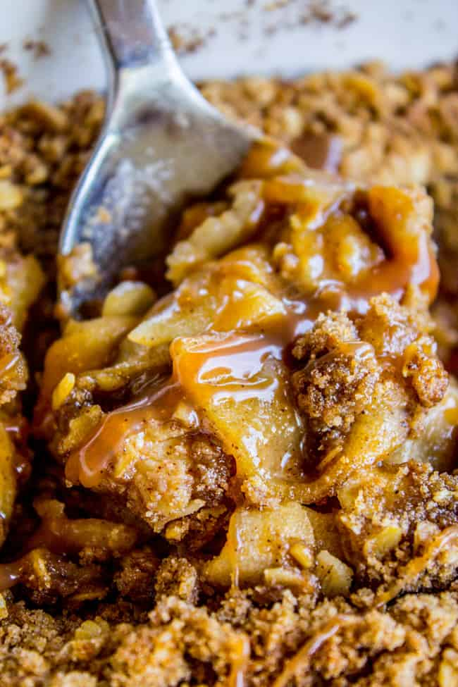 Apple Crisp, with a Ridiculous Amount of Streusel from The Food Charlatan