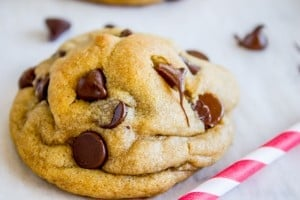 Brown Butter Chocolate Chip Cookies (and I had a baby!)