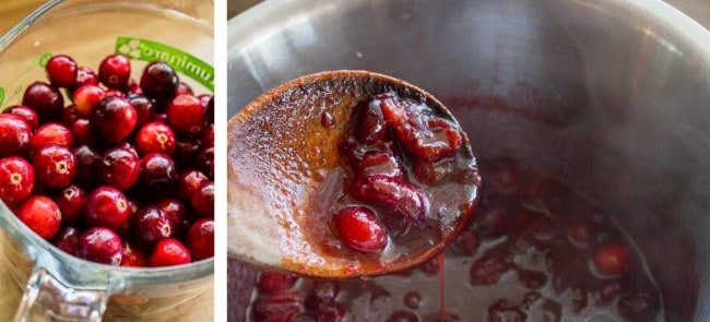 cranberries and cranberry sauce