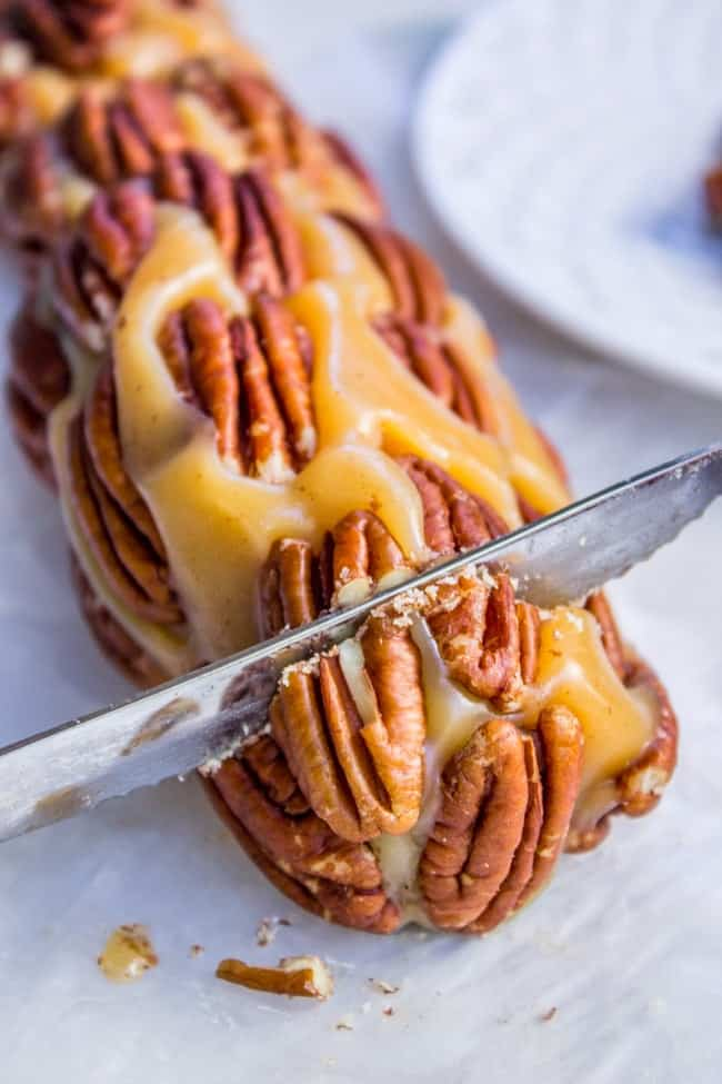Caramel Nougat Pecan Rolls from The Food Charlatan