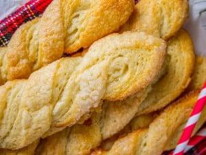 Swedish Sour Cream Twists (Layered Yeast Cookies)