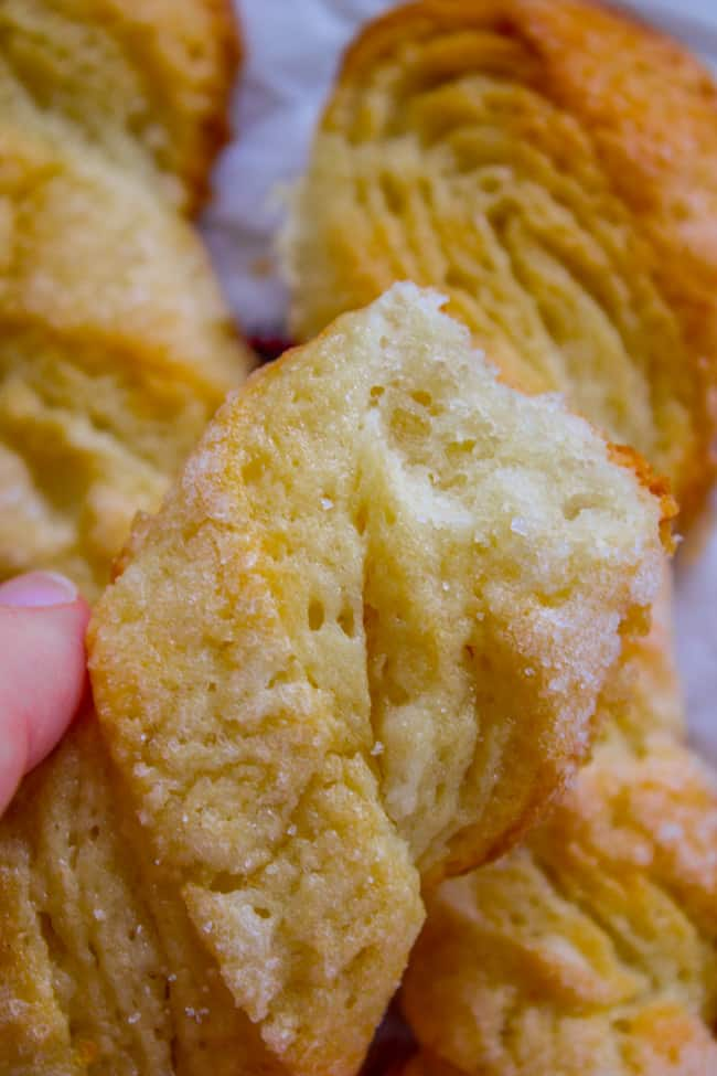 Swedish Sour Cream Twists (Layered Yeast Cookies) from The Food Charlatan