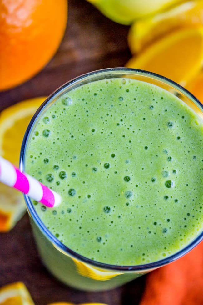 Green Orange Julius Smoothie from The Food Charlatan