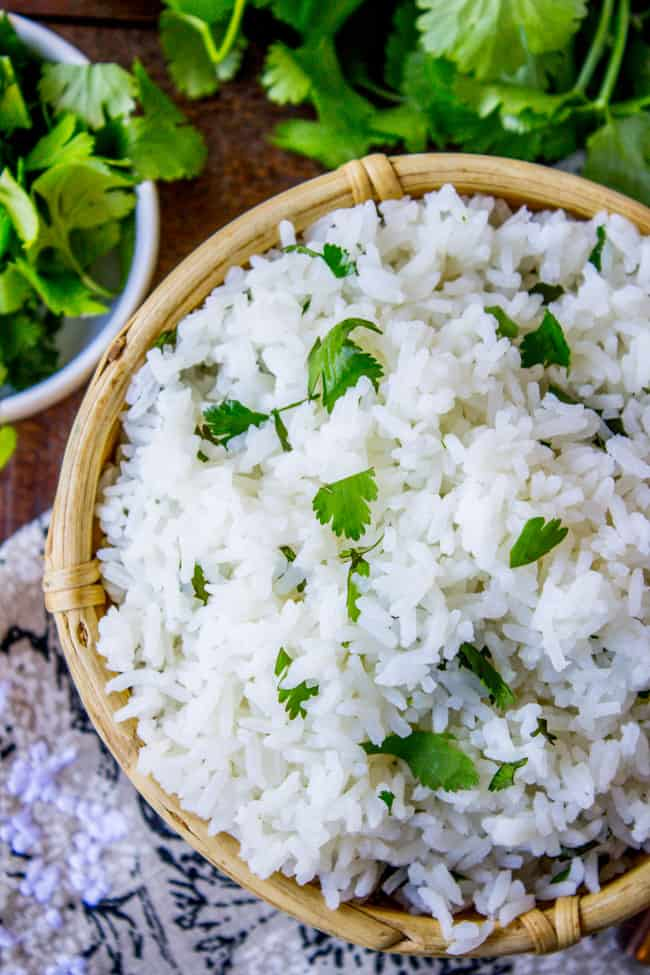 Coconut Jasmine Rice with Cilantro from The Food Charlatan