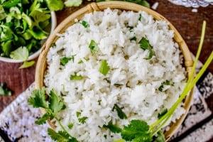 Coconut Jasmine Rice with Cilantro