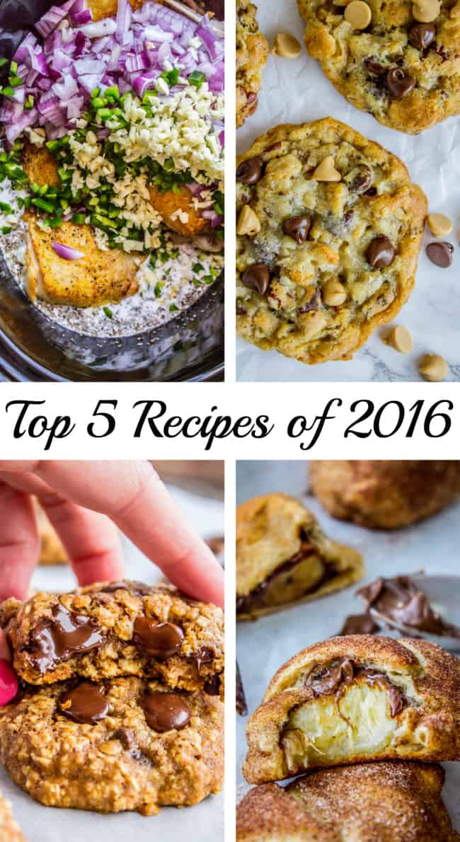 Top 5 Recipes of 2016 from The Food Charlatan