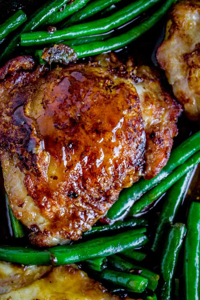 Asian Seared Chicken with Stir Fried Green Beans from The Food Charlatan