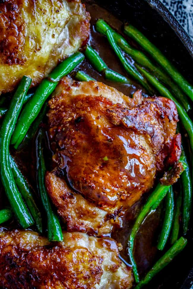 Asian Seared Chicken With Stir Fried Green Beans The Food Charlatan